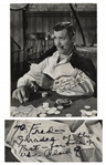 Clark Gable Signed Photo as Rhett Butler From Gone With the Wind -- Measures 10.25 x 13.5 -- With PSA/DNA COA