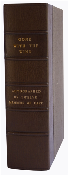 Gone with the Wind Autographs ''Gone With the Wind'' Cast Signed Novel -- Signed by 12, Including Clark Gable, Vivien Leigh, Olivia de Havilland, Leslie Howard & Hattie McDaniel -- With PSA/DNA COA