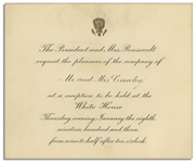 Theodore Roosevelt 1903 White House Invitation
