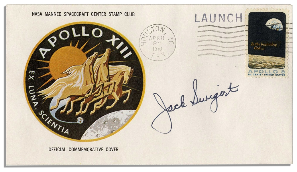 Jack Swigert's Personally Owned & Signed Apollo 13 First Day Cover