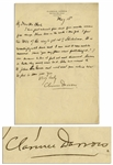 Clarence Darrow Autograph Letter Signed Regarding Prohibition -- ...the way to get rid of Volsteadism...