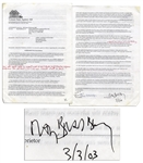 Ray Bradbury Signed Contract Pertaining to Publishing Rights For His Magnum Opus Fahrenheit 451