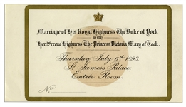 Invitation to the Wedding of King George V & Mary of Teck