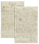 Civil War Letter -- ...One man was shot by the sentinel a few days ago...The ball struck the joint of his shoulder and went through his neck cutting open [his] wind pipe & gullet...