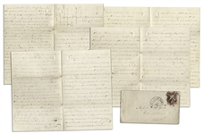 Civil War Letter With Fort Darling Battle Content -- ...I had one man fall on me...with the back part of his head shove in by a piece of shell...loss is 60 killed wounded & missing...