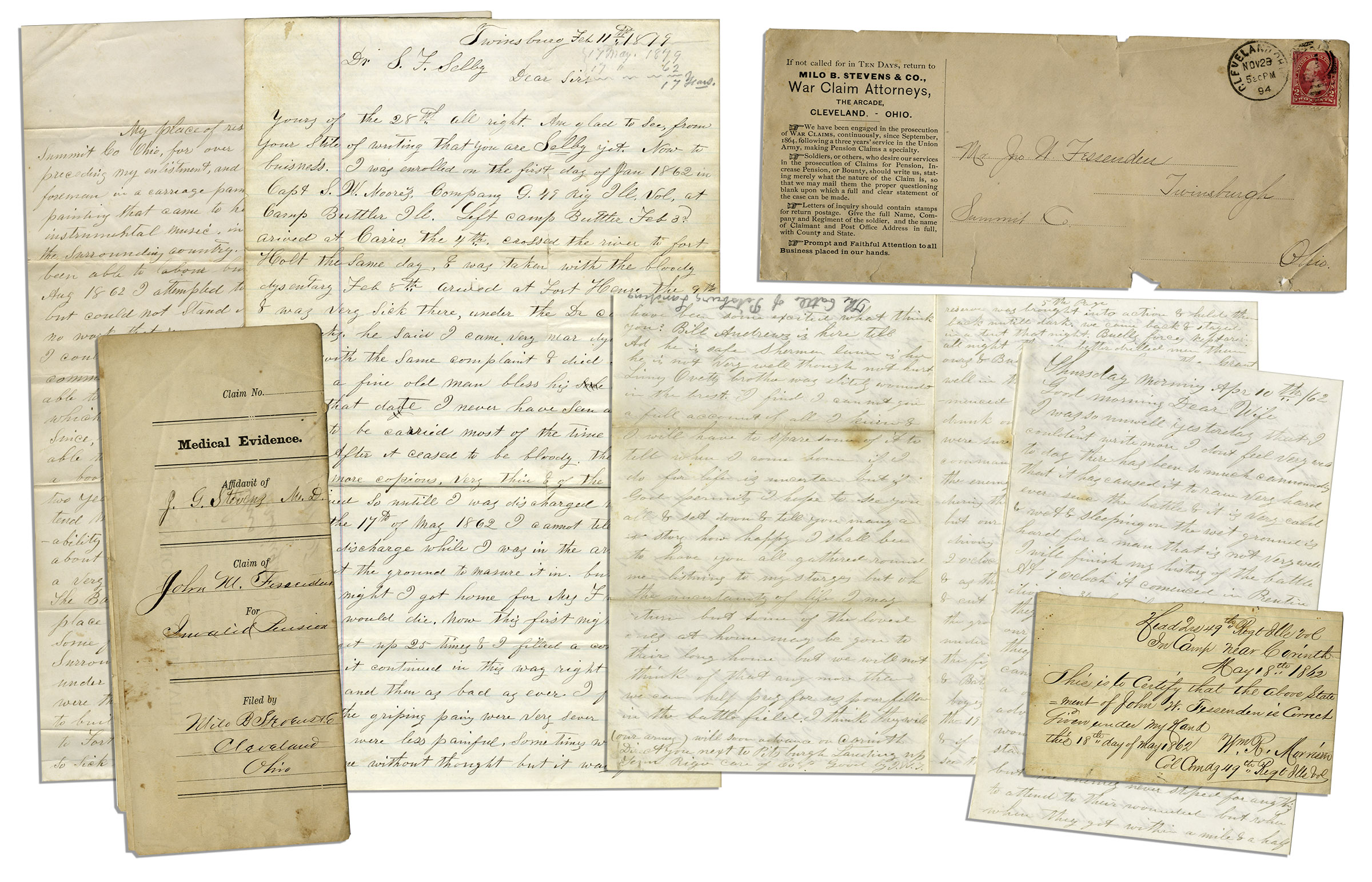 Lot Detail Civil War Letter On The Historic Battle Of Shiloh Its