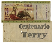 Ernest Hemingways Own Bullfighting Ticket From 29 July 1959 -- Hemingway Wrote About the Bullfights of 1959 in His Final Book