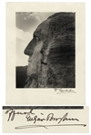 Scarce Mt. Rushmore Photograph Signed by Its Designer Gutzon Borglum  -- 10 x 12.75