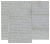 40th Virginia Infantryman Civil War Letter: ...a spy had just passed through our camp, having crossed over at Mathias point, on his way from Washington to report to General Holmes...