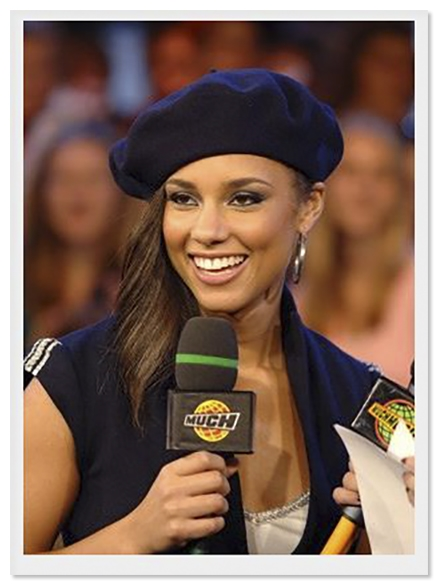 Alicia Keys Worn Navy Blue Beret Designed by ''Lola''-- With a COA From Alicia Keys