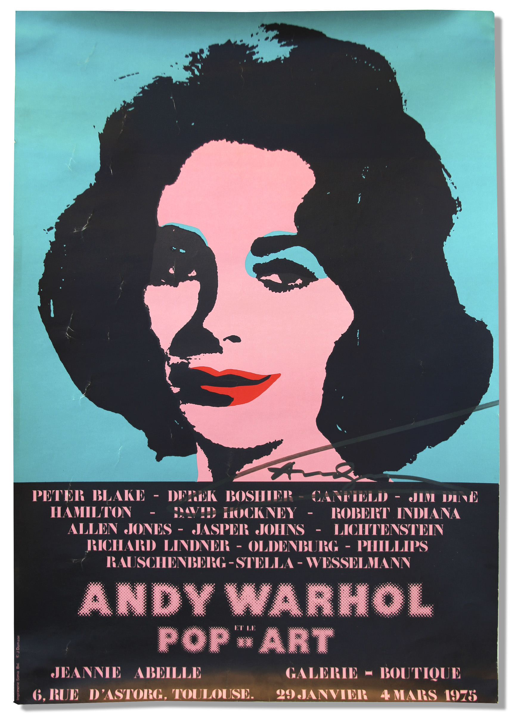 Perfect Andy Warhol Signed Poster Of His Famous Elizabeth Taylor Masterpiece ... Pictures Gallery
