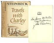 John Steinbeck Signed Copy of Travels With Charley -- From the Helen Hayes Estate