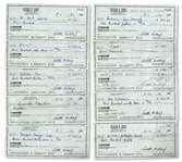 Lot of 10 Arthur Ashe Signed Checks -- From the Arthur Ashe Estate