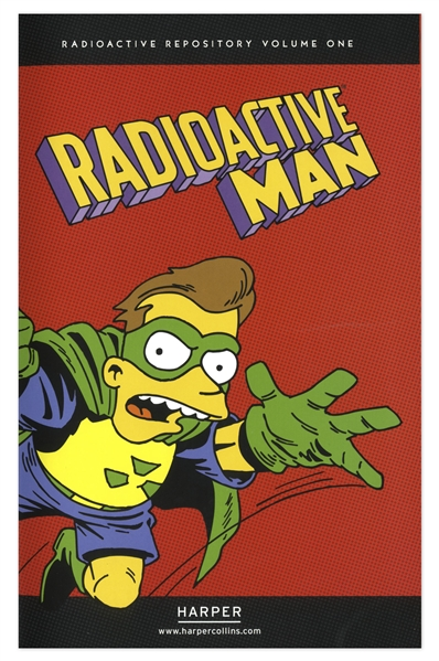 Matt Groening Signed Sketch of Bart Simpson -- Sketched on a Page of ''Radioactive Man''