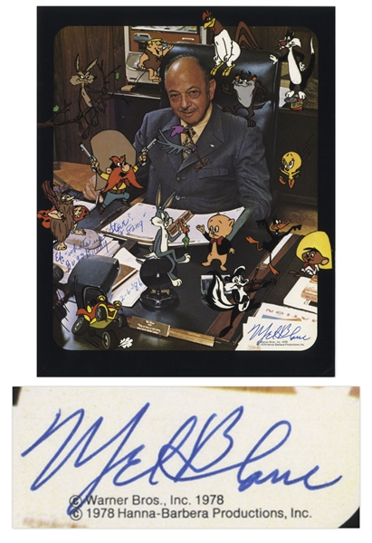 Mel Blanc Signed 8'' x 10'' Photograph -- Blanc Also Writes ''Eh What's Up Steve? Bugs Bunny & Gang''