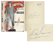 1947 Billy Evans Signed Book Umpiring From the Inside -- Uninscribed
