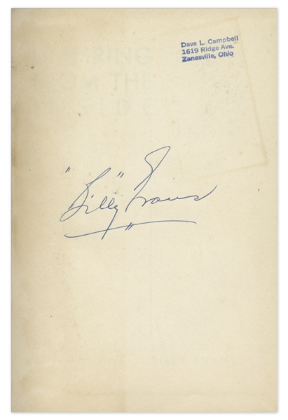 1947 Billy Evans Signed Book ''Umpiring From the Inside'' -- Uninscribed