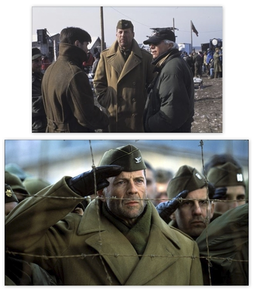 Bruce Willis Screen-Worn Overcoat & Scarf From ''Hart's War''