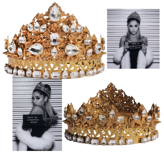 Ariana Grande Crown Worn for ''Dangerous Woman'' Promo Campaign -- With LOA From the Designer