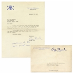 George H.W. Bush Letter Signed as Vice President, With Autograph Note Signed -- youve had too much grief