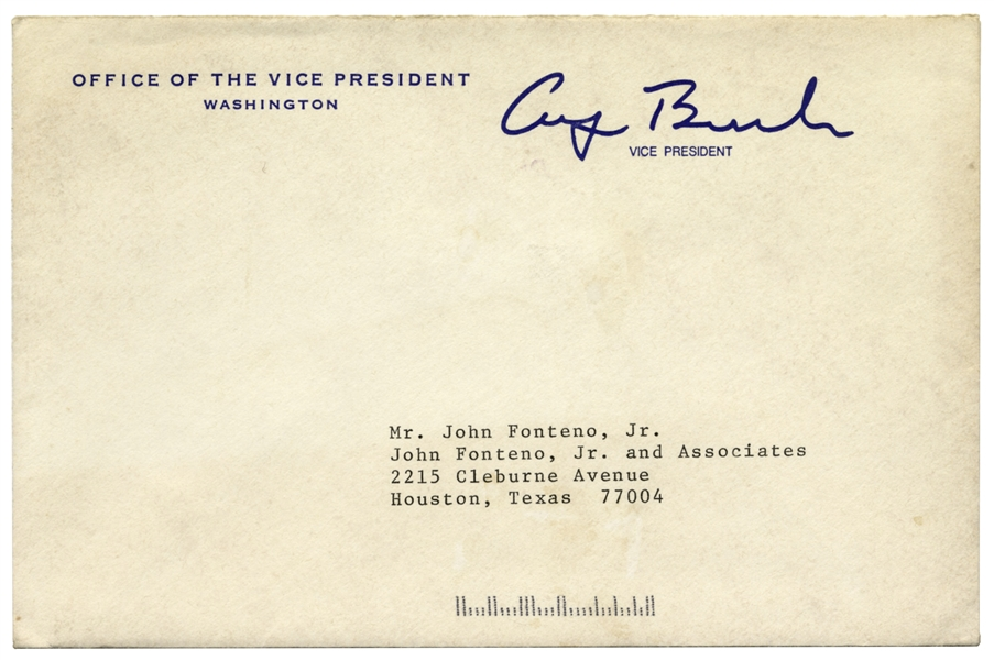 George H.W. Bush Letter Signed as Vice President, With Autograph Note Signed -- ''you've had too much grief''