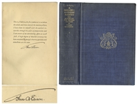 Thomas Edison Signed Copy of A Million And One Nights: A History of The Motion Picture