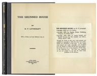 H.P. Lovecraft Printing of The Shunned House From 1928 -- One of Only 100 Printed Copies Subsequently Printed by Arkham House, With Canterbury Watermark -- Scarce