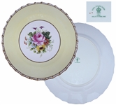Ronald & Nancy Reagan Beautiful Porcelain Dessert Plate