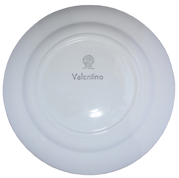 Ronald & Nancy Reagan Personally Owned Plate Designed by Valentino