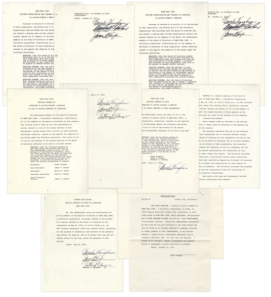 Legendary Jazz Singer Sarah Vaughan Lot of 5 Contracts Signed