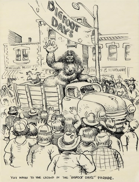 Robert Crumb Original Artwork From ''Whiteman Meets Bigfoot''