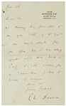 Charles Darwin Autograph Letter Signed -- Regarding the German Translation for His Works