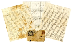 Letter Lot by Surgeon in the 5th West Virginia Infantry on Slavery & Battle of Cross Keys -- ...We counted 27 dead horses and in following them we saw dead men, legs, arms and feet...