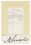 Abraham Lincoln Autograph Letter Signed as President in 1864 Prior to His Relection -- ...let the one [New Jersey Colonel] having best testimonials be nominated for a Brigadier General...