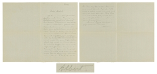 Albert Einstein Autograph Letter Signed -- Einstein Writes to His Closest Friend, Michele Besso, Offering Condolences to Bessos Family, Who Suffered a Tragic Death