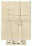 Albert Einstein Letter Signed -- ...I have also been impressed by your courageous and harmonious attitude toward life...