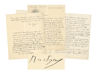 Art Nouveau Painter Alfons Mucha Autograph Letter Twice-Signed, Dated 20 December 1899, the Day Le Pater Was Published -- ...the accumulation of work which keeps me so out of breath...