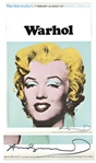 Andy Warhol Large Signed Poster of Marilyn Monroe -- With University Archives COA