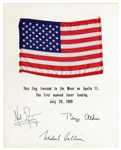 Apollo 11 Space-Flown U.S. Flag