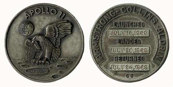 Space-Flown Apollo 11 Robbins Medal -- Serial Number 60, Given to the Consignor by Buzz Aldrin
