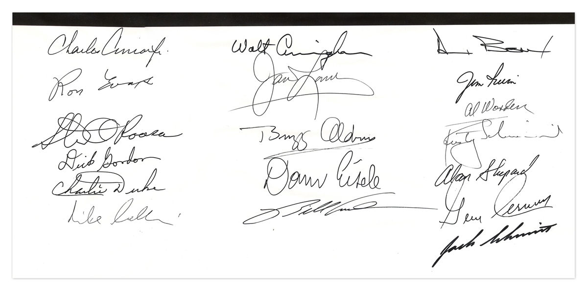 Rare Apollo Reunion Poster Signed by 18 Apollo Astronauts, Including 8 Moonwalkers -- With Steve Zarelli COA