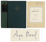 Ayn Rand Signed First Edition of Atlas Shrugged