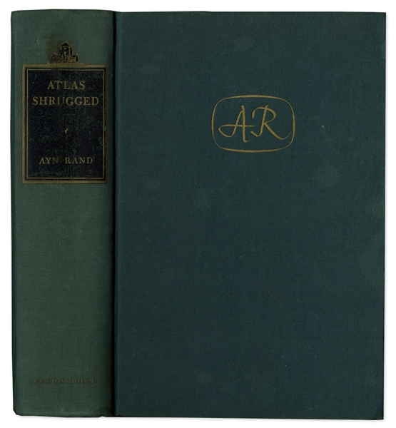 Ayn Rand Signed First Edition of ''Atlas Shrugged''