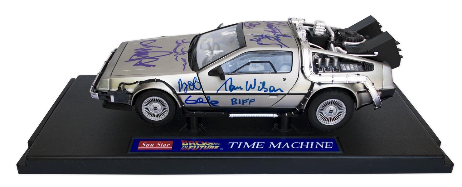 Back to the Future screen used memorabilia ''Back to the Future'' Cast Signed DeLorean