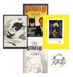 Limited Edition of Bob Kanes Batman & Me -- Includes Hand-Drawn Signed Sketch of Batman in Near Fine Condition