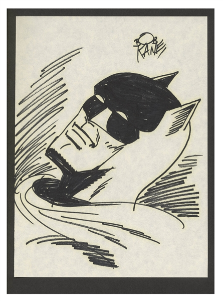 Limited Edition of Bob Kane's ''Batman & Me'' -- Includes Hand-Drawn Signed Sketch of Batman in Near Fine Condition