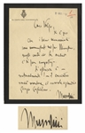 Benito Mussolini Autograph Letter Signed as Prime Minister and Duce of Fascism -- ...The author is - naturally! - the hunter...