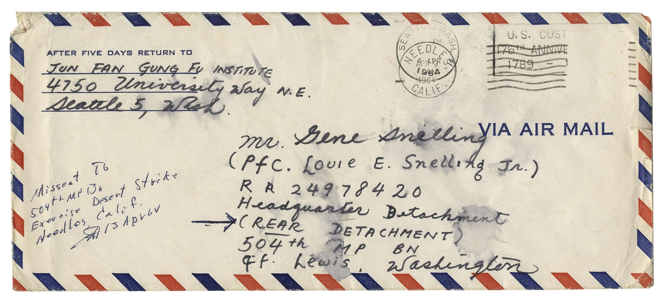 Bruce Lee Memorabilia Auction Fantastic Bruce Lee Autograph Letter Signed on Gung Fu Discipline, Harmonious Movements, Health, Mind, No Wasted Movements, Oneness, Self-Consciousness, Self Defense, Simplicity & Training