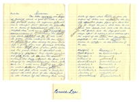 "Bruce Lee Signed & Handwritten Essay From High School -- ""…the pure white hangings in the little bed chambers above beckons, Come in!…"" -- Among Earliest Examples of Lees Writing"