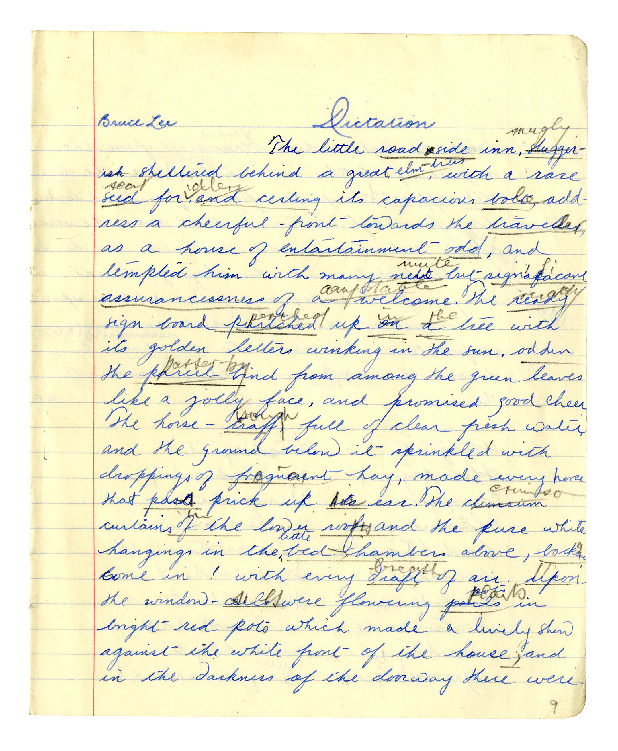 Business Essay Writing  Bruce Lee Signed  Handwritten Essay From High School  The Pure  White Hangings  The Yellow Wallpaper Critical Essay also Narrative Essay Sample Papers Lot Detail  Bruce Lee Signed  Handwritten Essay From High School  Essay Examples For High School Students